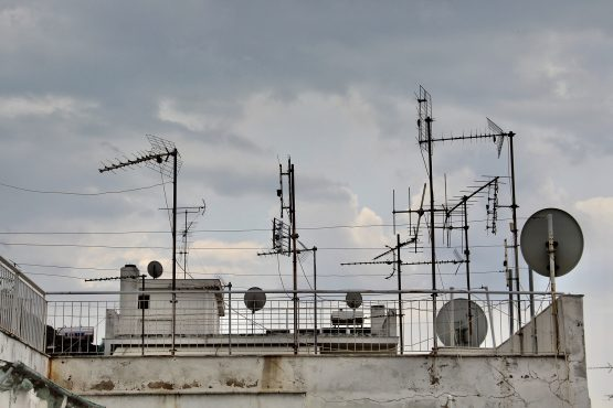 Some of the images that inspire me to create my designs before screen printing. A terrace with a lot of old tv antennas somewhere in Athens, Greece.