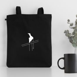 My wind design silkscreen printed on a tote bag made of organic cotton. Unisex